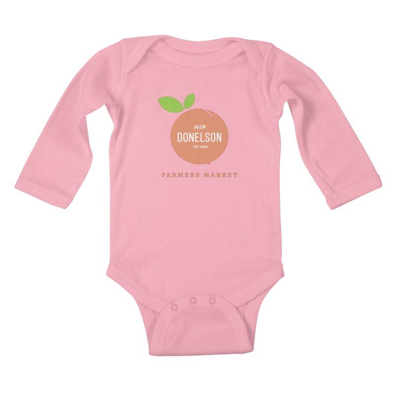 Farmers Market Logo Kids Baby Longsleeve Bodysuit by Hip Donelson Farmers Market