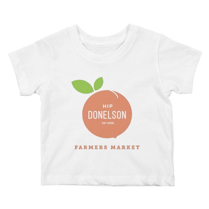 Farmers Market Logo Kids Baby T-Shirt by Hip Donelson Farmers Market