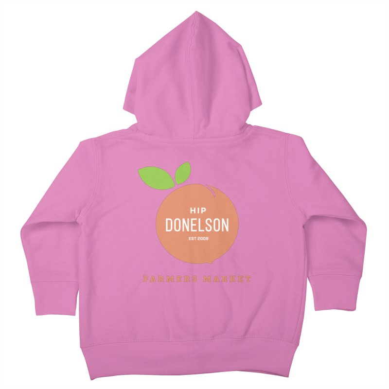 Farmers Market Logo Kids Toddler Zip-Up Hoody by Hip Donelson Farmers Market