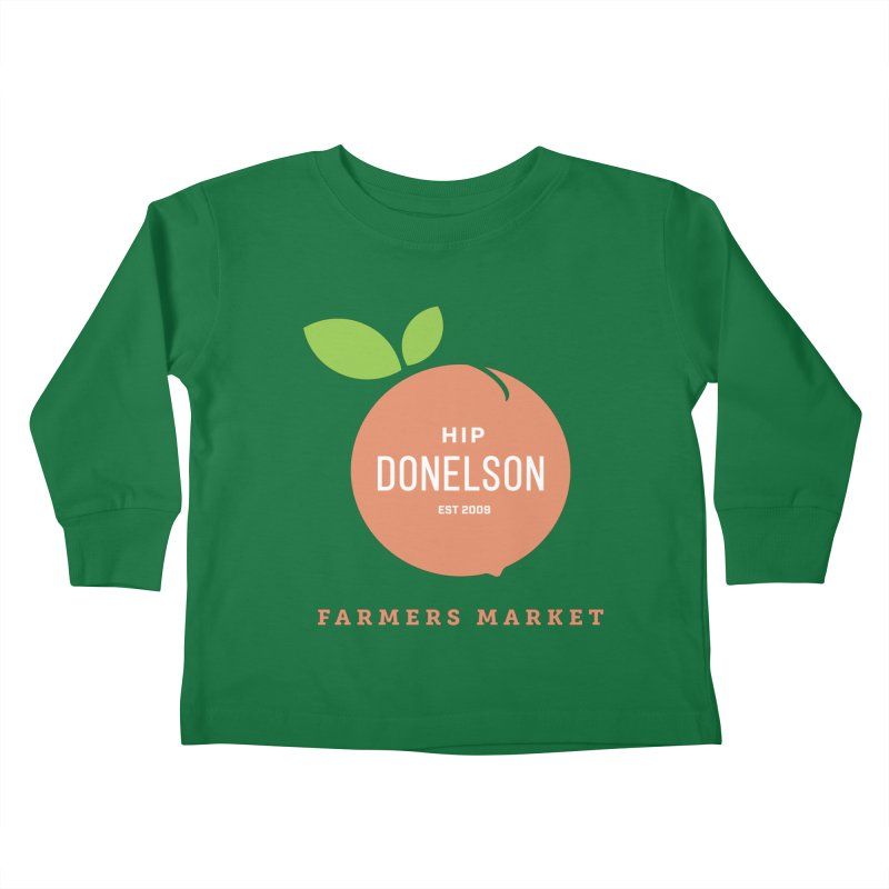 Farmers Market Logo Kids Toddler Longsleeve T-Shirt by Hip Donelson Farmers Market