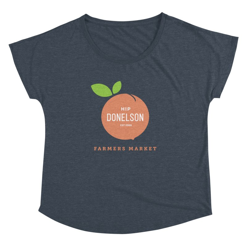 Farmers Market Logo Women's Dolman Scoop Neck by Hip Donelson Farmers Market