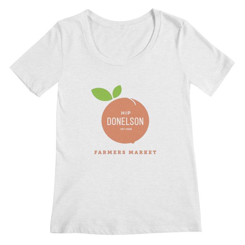 Farmers Market Logo Women's Regular Scoop Neck by Hip Donelson Farmers Market