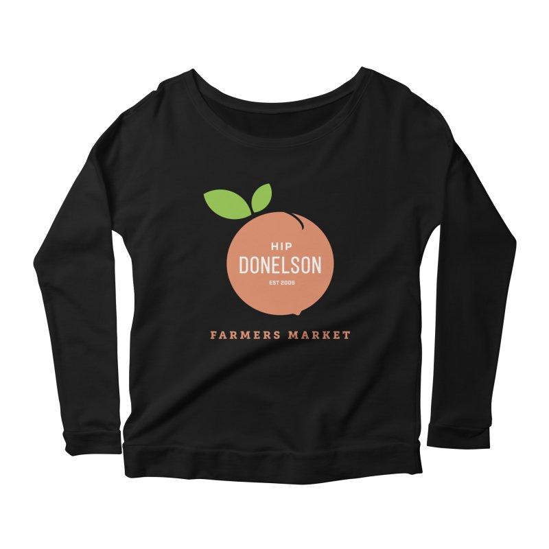 Farmers Market Logo Women's Scoop Neck Longsleeve T-Shirt by Hip Donelson Farmers Market
