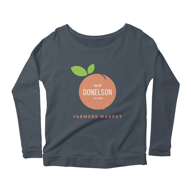 Farmers Market Logo Women's Scoop Neck Longsleeve T-Shirt by Hip Donelson Farmers Market