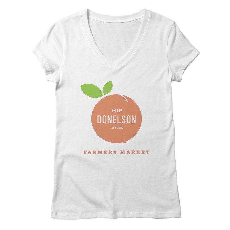 Farmers Market Logo Women's Regular V-Neck by Hip Donelson Farmers Market