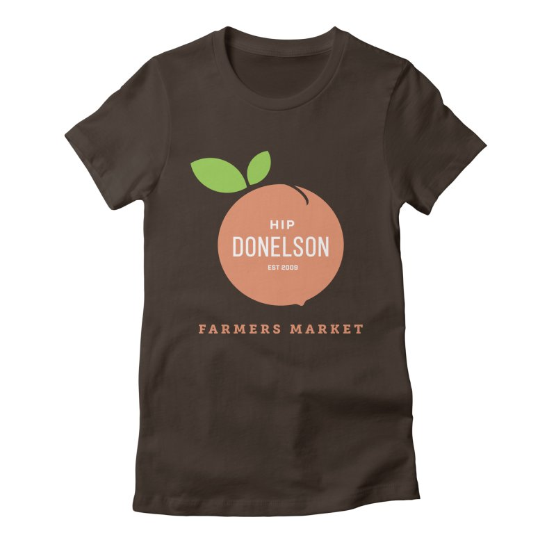 Farmers Market Logo Women's Fitted T-Shirt by Hip Donelson Farmers Market