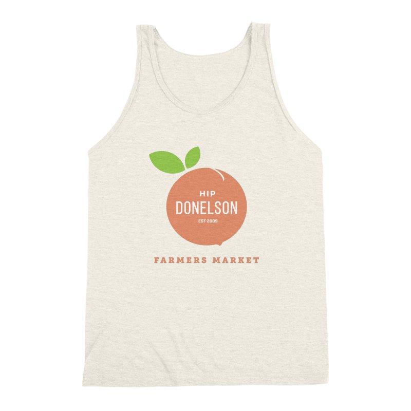 Farmers Market Logo Men's Triblend Tank by Hip Donelson Farmers Market