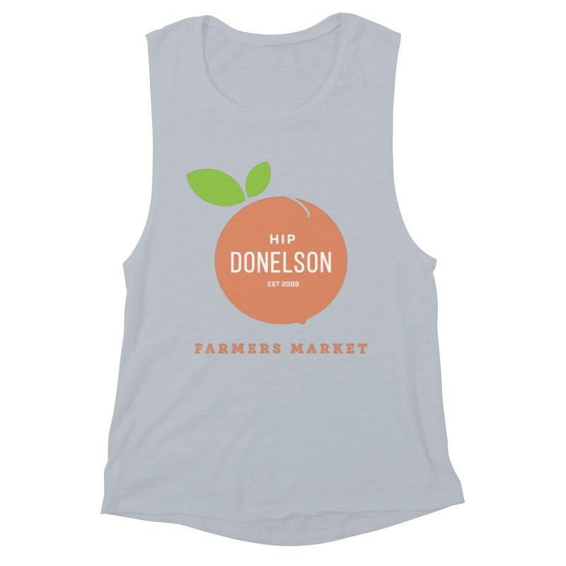 Farmers Market Logo Women's Muscle Tank by Hip Donelson Farmers Market