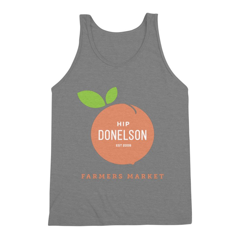 Farmers Market Logo Men's Triblend Tank by Hip Donelson Farmers Market