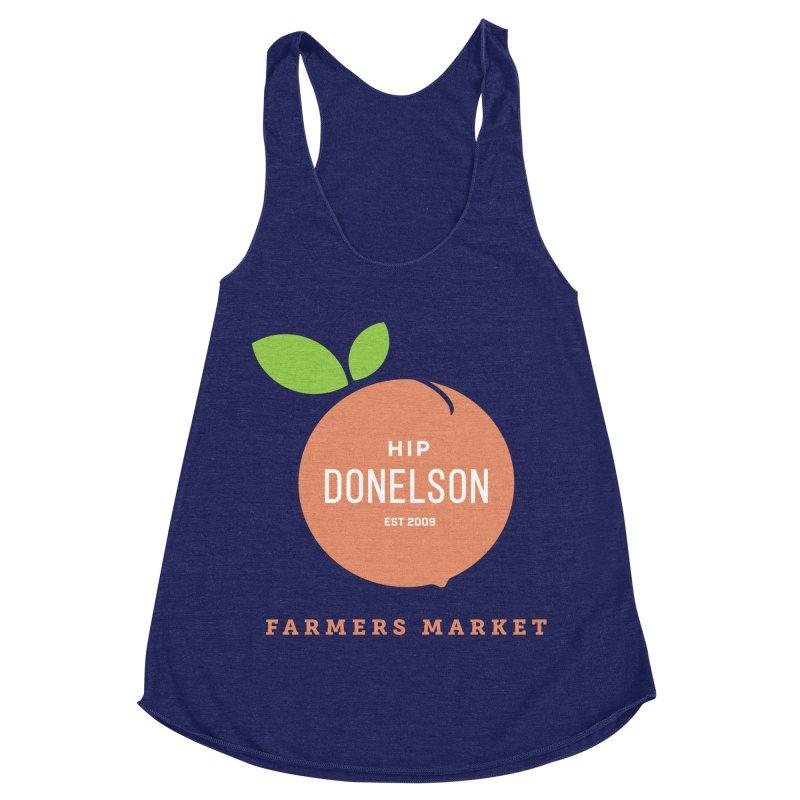 Farmers Market Logo Women's Racerback Triblend Tank by Hip Donelson Farmers Market