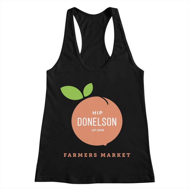Farmers Market Logo Women's Racerback Tank by Hip Donelson Farmers Market