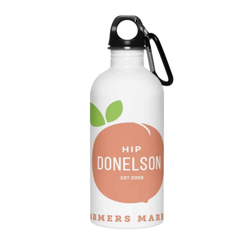 Farmers Market Logo Accessories Water Bottle by Hip Donelson Farmers Market