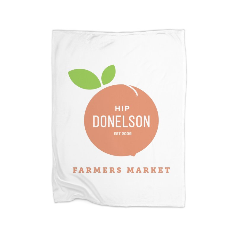 Farmers Market Logo Home Fleece Blanket Blanket by Hip Donelson Farmers Market