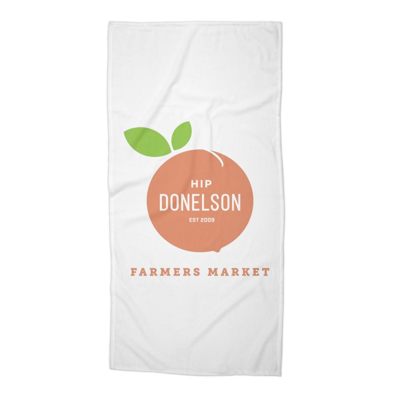 Farmers Market Logo Accessories Beach Towel by Hip Donelson Farmers Market
