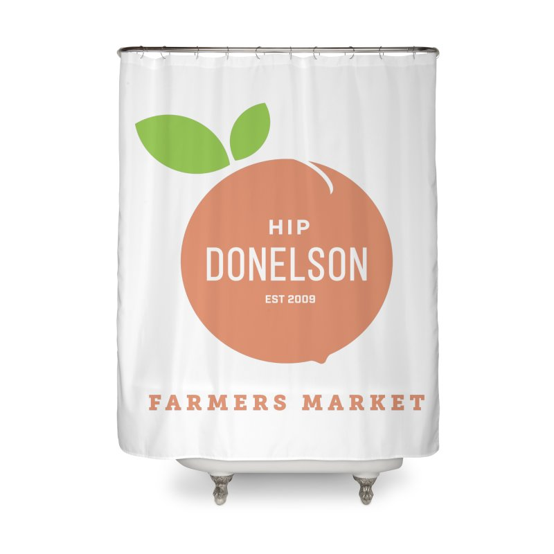 Farmers Market Logo Home Shower Curtain by Hip Donelson Farmers Market