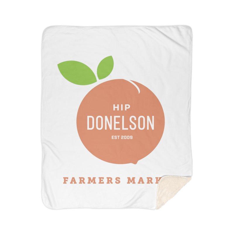 Farmers Market Logo Home Sherpa Blanket Blanket by Hip Donelson Farmers Market