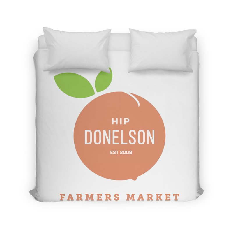 Farmers Market Logo Home Duvet by Hip Donelson Farmers Market
