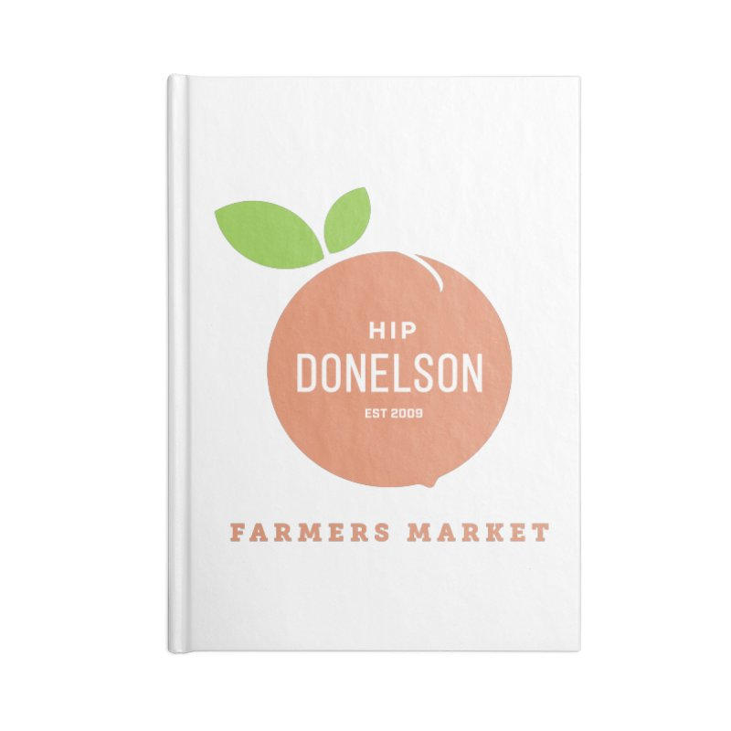 Farmers Market Logo Accessories Lined Journal Notebook by Hip Donelson Farmers Market