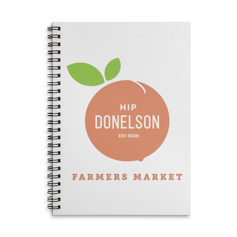 Farmers Market Logo Accessories Lined Spiral Notebook by Hip Donelson Farmers Market