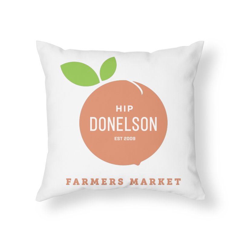 Farmers Market Logo Home Throw Pillow by Hip Donelson Farmers Market