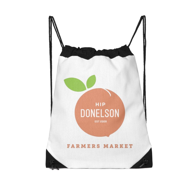 Farmers Market Logo Accessories Drawstring Bag Bag by Hip Donelson Farmers Market