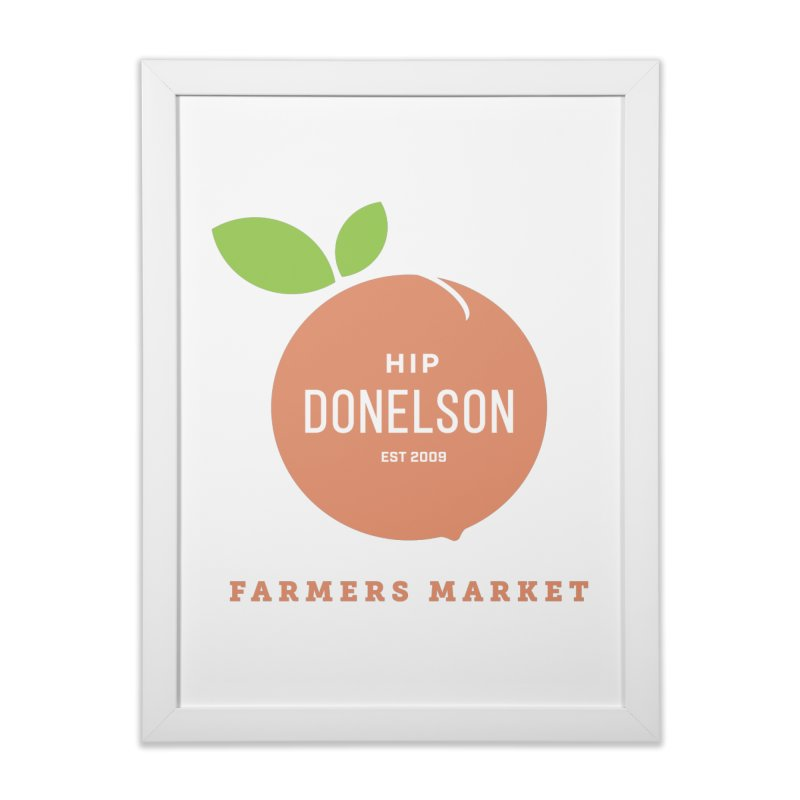 Farmers Market Logo Home Framed Fine Art Print by Hip Donelson Farmers Market