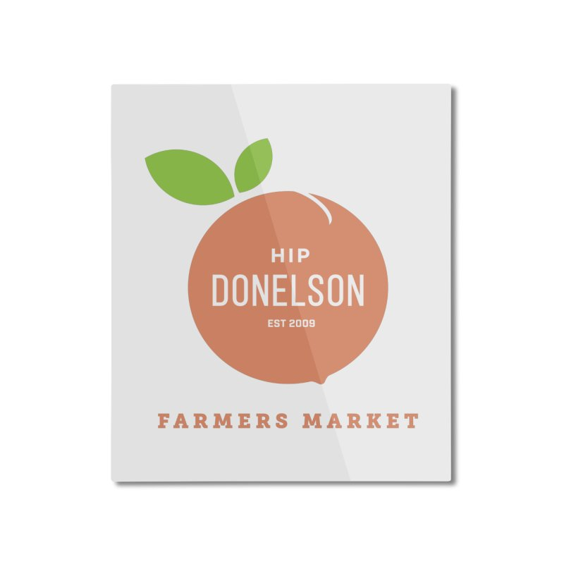Farmers Market Logo Home Mounted Aluminum Print by Hip Donelson Farmers Market