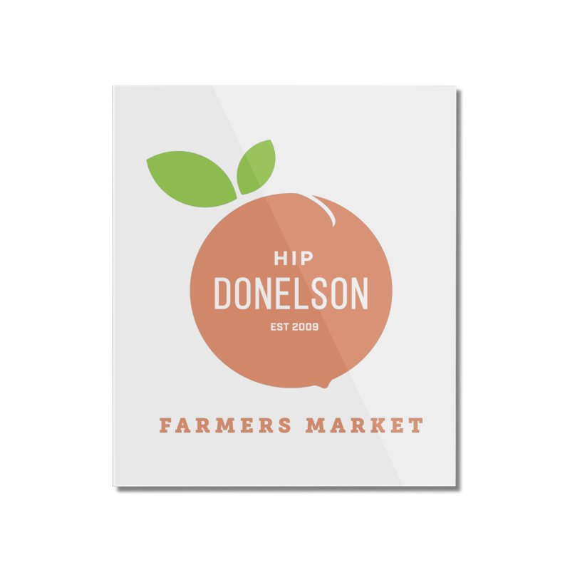 Farmers Market Logo Home Mounted Acrylic Print by Hip Donelson Farmers Market