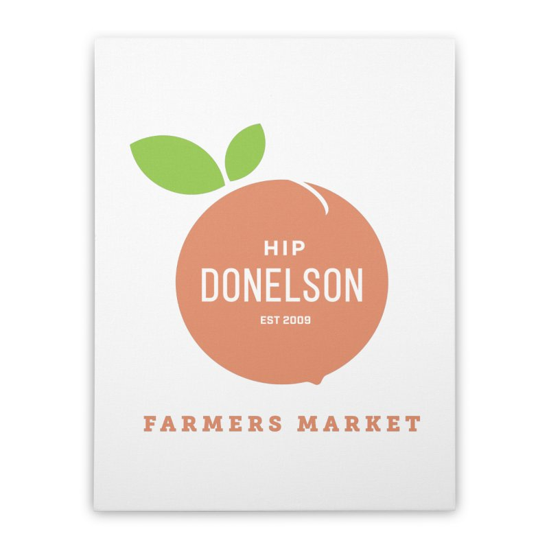 Farmers Market Logo Home Stretched Canvas by Hip Donelson Farmers Market