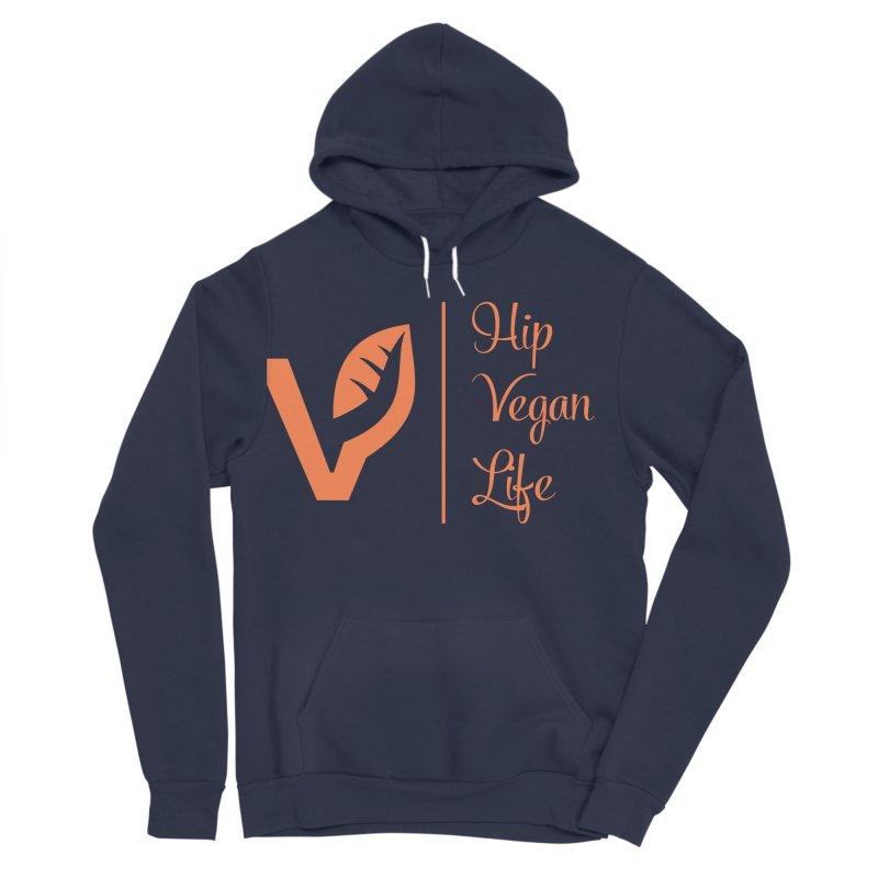Logo Men's Sponge Fleece Pullover Hoody by hipveganlife Apparel & Accessories