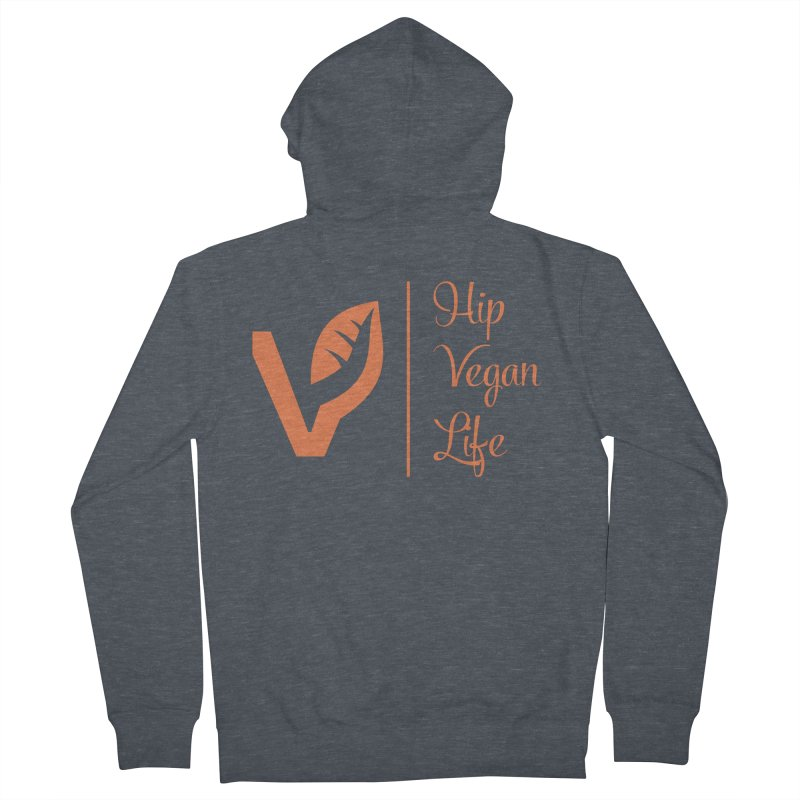 Logo Men's French Terry Zip-Up Hoody by hipveganlife Apparel & Accessories