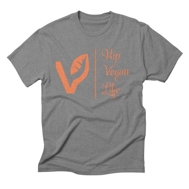 Logo Men's Triblend T-Shirt by hipveganlife Apparel & Accessories