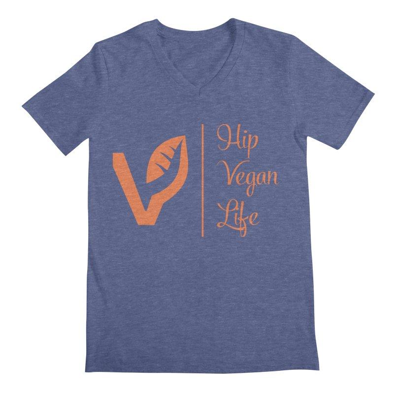 Logo Men's Regular V-Neck by hipveganlife Apparel & Accessories