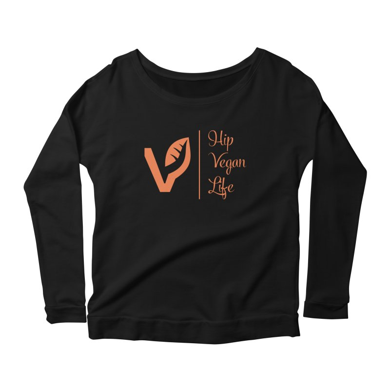 Logo Women's Scoop Neck Longsleeve T-Shirt by hipveganlife Apparel & Accessories