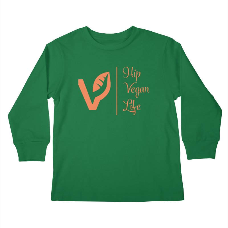 Logo Kids Longsleeve T-Shirt by hipveganlife Apparel & Accessories