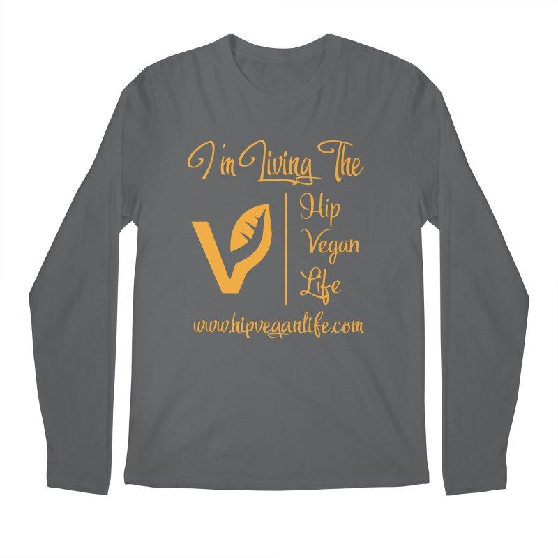 I'm Living The Hip Vegan Life Men's Regular Longsleeve T-Shirt by hipveganlife Apparel & Accessories