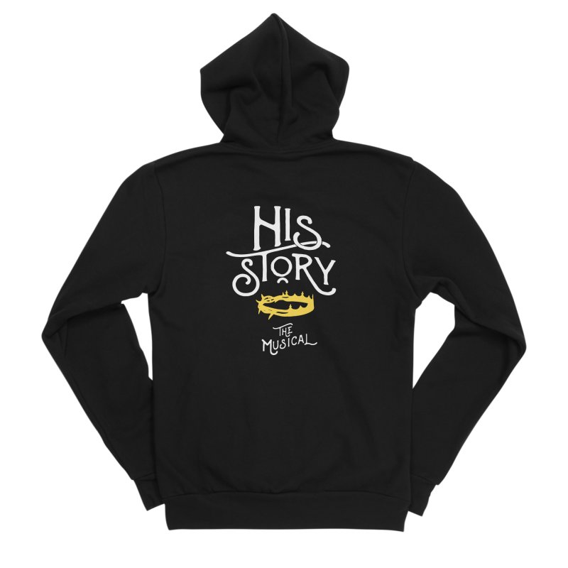 His Story Official Logo Men's Sponge Fleece Zip-Up Hoody by His Story The Musical - Merch