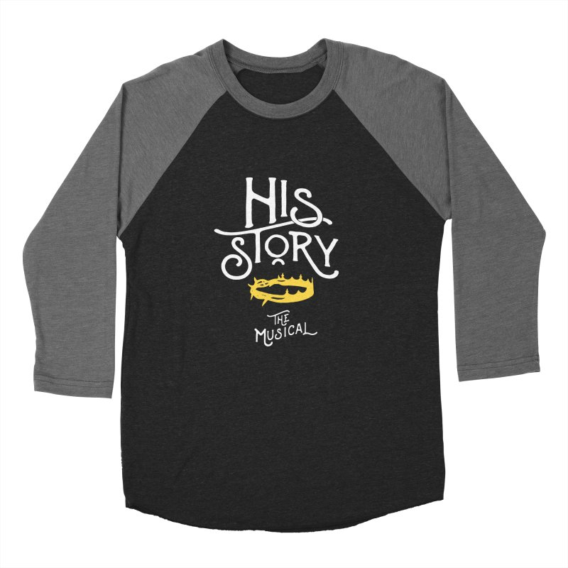 His Story Official Logo Men's Baseball Triblend Longsleeve T-Shirt by His Story The Musical - Merch