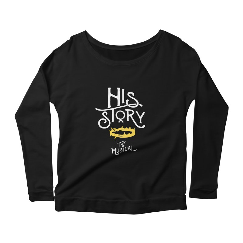 His Story Official Logo Women's Scoop Neck Longsleeve T-Shirt by His Story The Musical - Merch