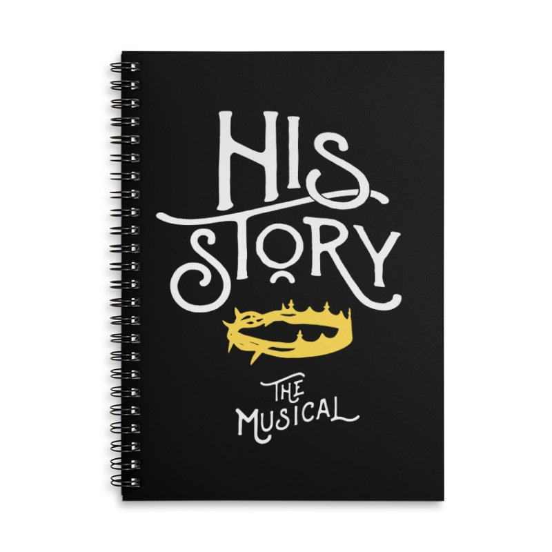 His Story Official Logo Accessories Lined Spiral Notebook by His Story The Musical - Merch