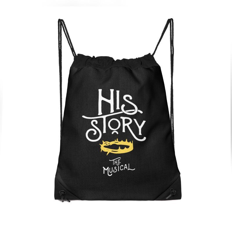 His Story Official Logo Accessories Drawstring Bag Bag by His Story The Musical - Merch