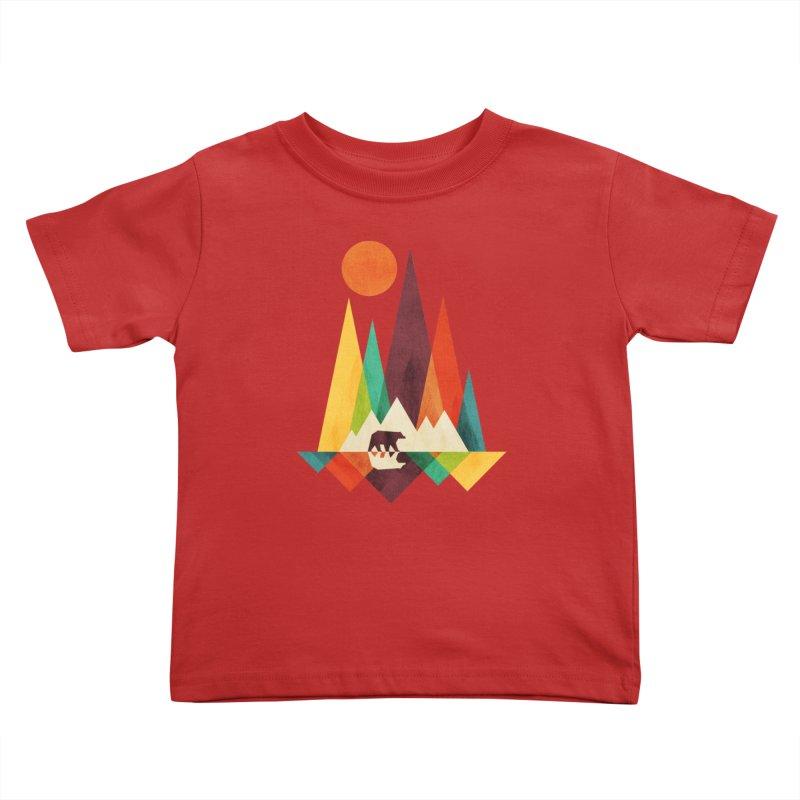 Bear and mountains Kids Toddler T-Shirt by Trabu - Graphic Art Shop