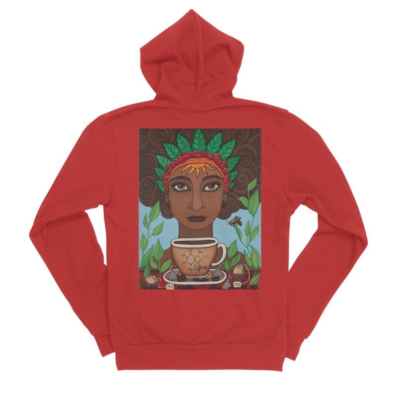 Goddess Caffeina Men's Zip-Up Hoody by HM Artistic Creations Artist Shop