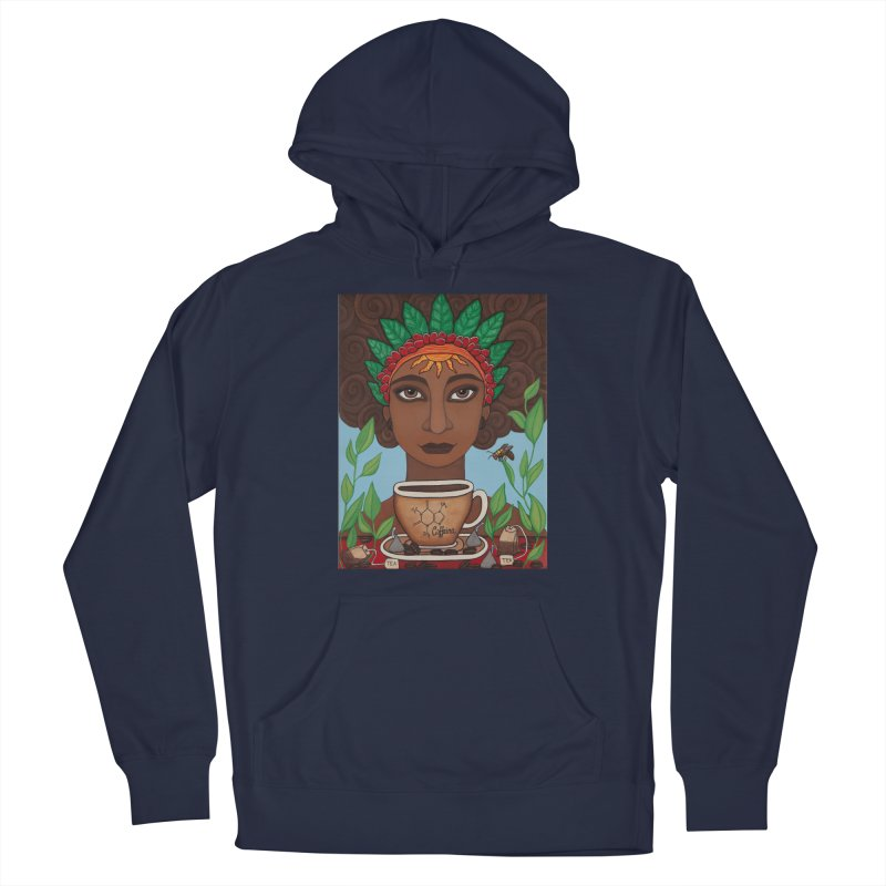 Goddess Caffeina Men's Pullover Hoody by HM Artistic Creations Artist Shop