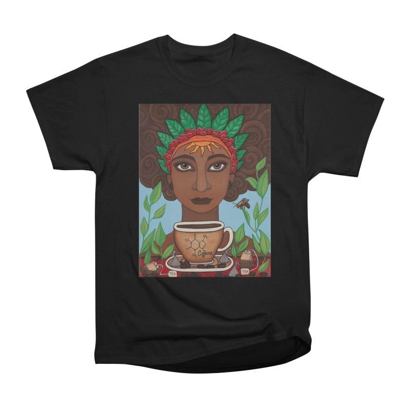 Goddess Caffeina Men's T-Shirt by HM Artistic Creations Artist Shop