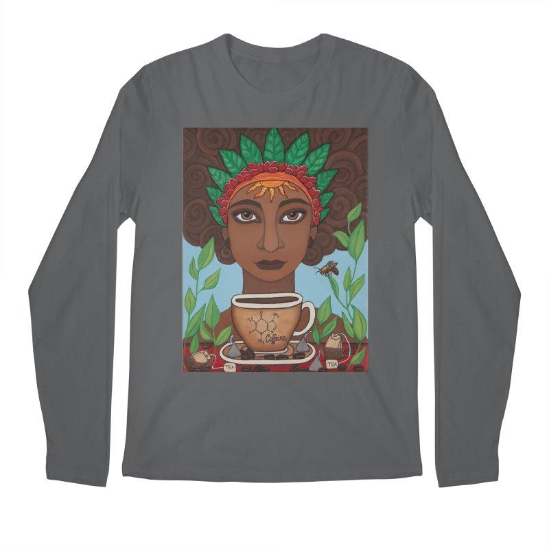 Goddess Caffeina Men's Longsleeve T-Shirt by HM Artistic Creations Artist Shop