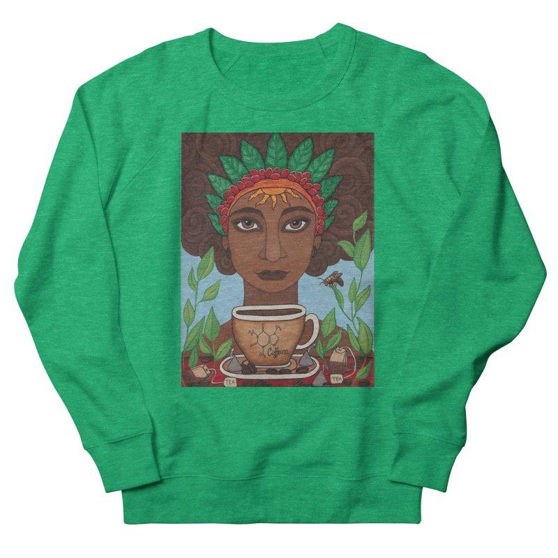 Goddess Caffeina Women's Sweatshirt by HM Artistic Creations Artist Shop