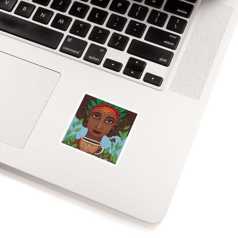 Goddess Caffeina Accessories Sticker by HM Artistic Creations Artist Shop