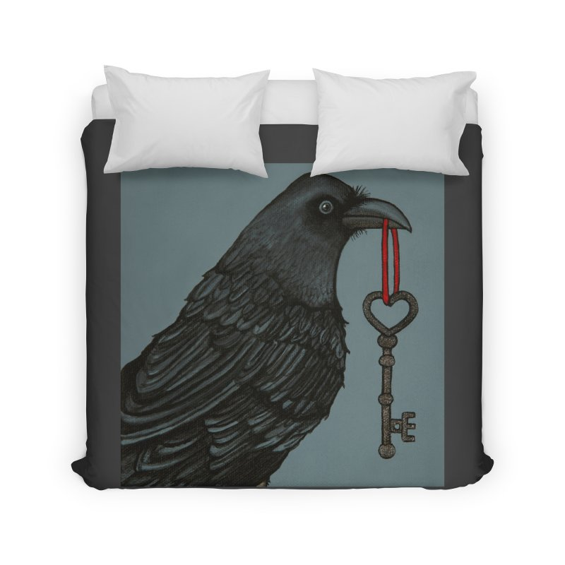 Raven Home Duvet by HM Artistic Creations Artist Shop