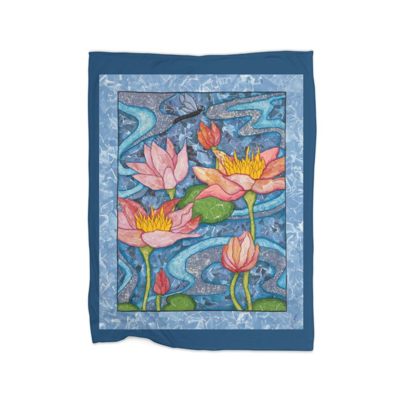 Water Lilies Home Blanket by HM Artistic Creations Artist Shop
